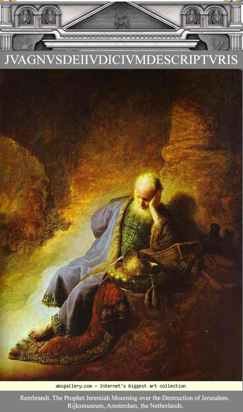 Rembrandt 1630 The Prophet Jeremiah Mourning over the Destruction of Jerusalem