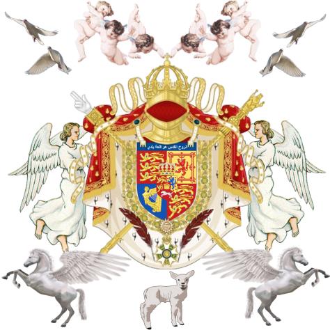 Coat of Arms JV AGNVS DEI VERBVM DEI Jose Maria Chavira Adagio Al-Hussayni M.S. PRIMOGENITVS FILVS DEI AGA KHAN XIII Nome de Plume JCANGELCRAFT - Eternitys Quill Before The Sword
