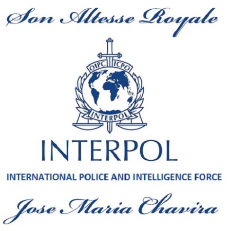 ANSY'S Son Altesse Royale Principe Jose Maria Chavira MS Adagio 1st Head of INTERPOL the International Police and Intelligence Service