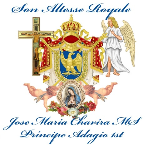 Augilas Sanctus The Imperial Eagle of Espiritu Santo and Coat of Arms of Son Altesse Royale Jose Maria Chavira MS Adagio 1st Nom de plume JCAngelcraft the son of God my Holy Spirit